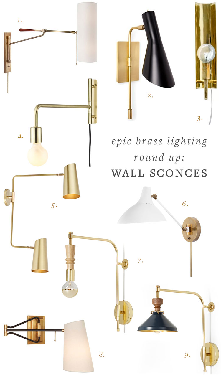 My Epic Brass Lighting Round Up Table Lamps Sconces And