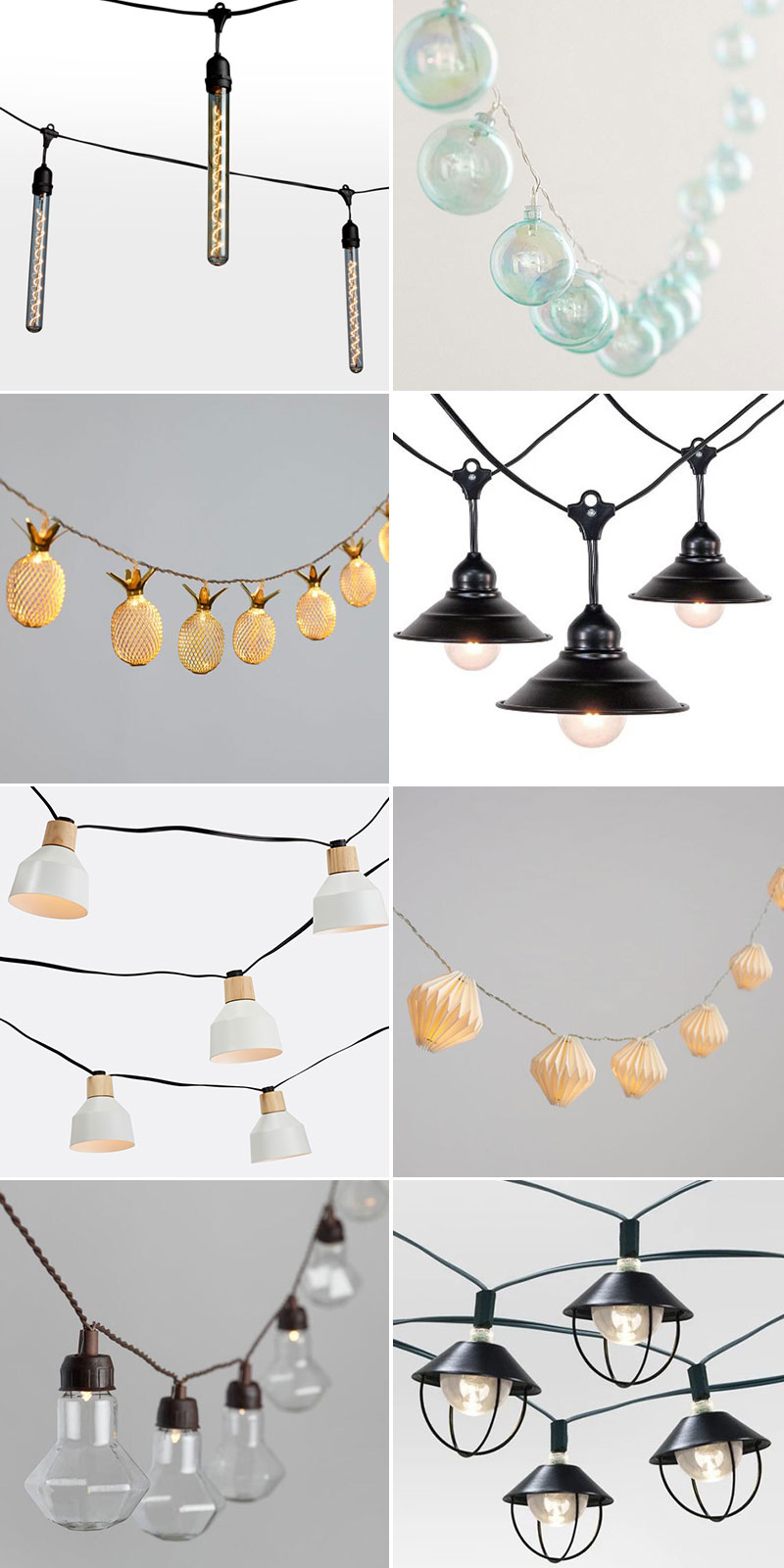 my ultimate outdoor string lights round up for your deck, patio, or outdoor space. #cafelights #lighting #romanticlighting #stringlights #roundup #outdoordecor #outdoor