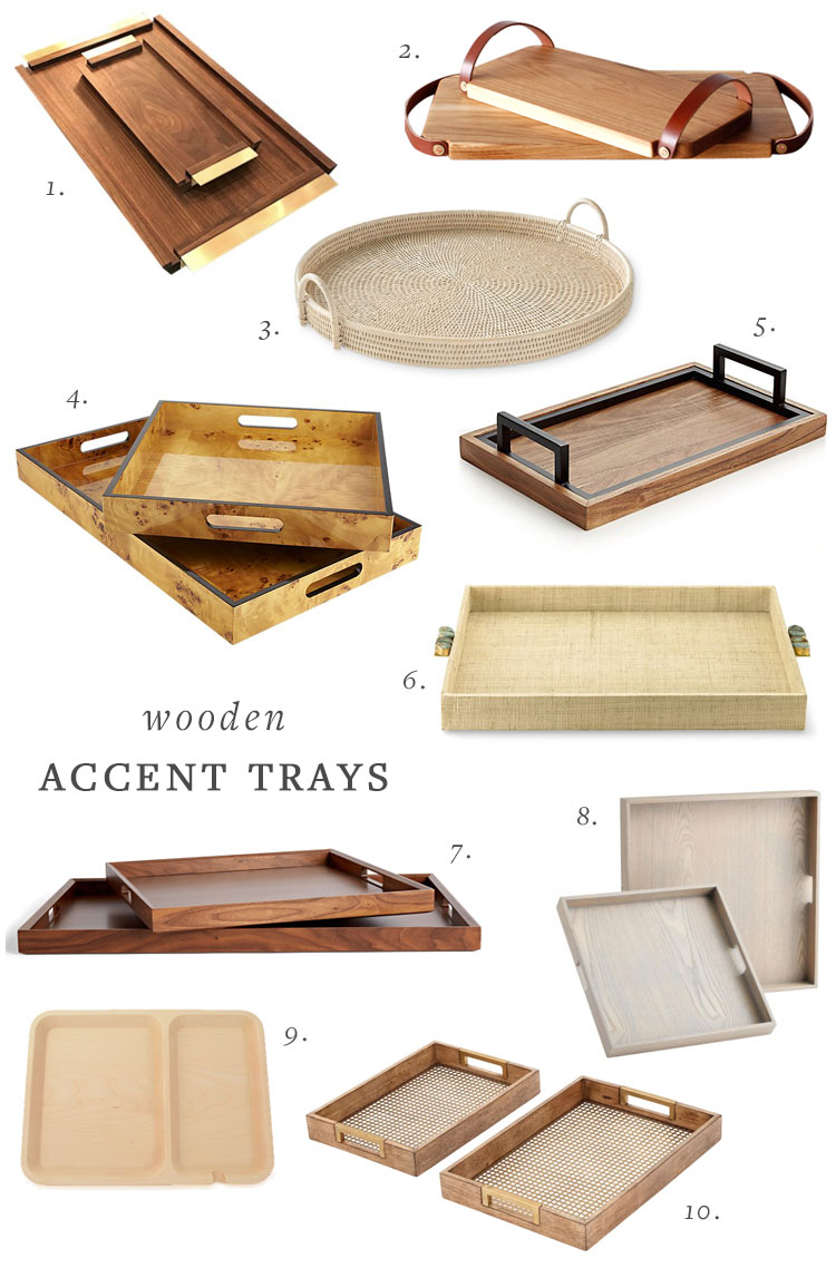 40+ accent trays + how to use them on your coffee table, bookshelf shelfie, vanity, nightstand, bathroom, entryway, and desk. #accenttray #homedecor #decortips #interiordecor #shelfie