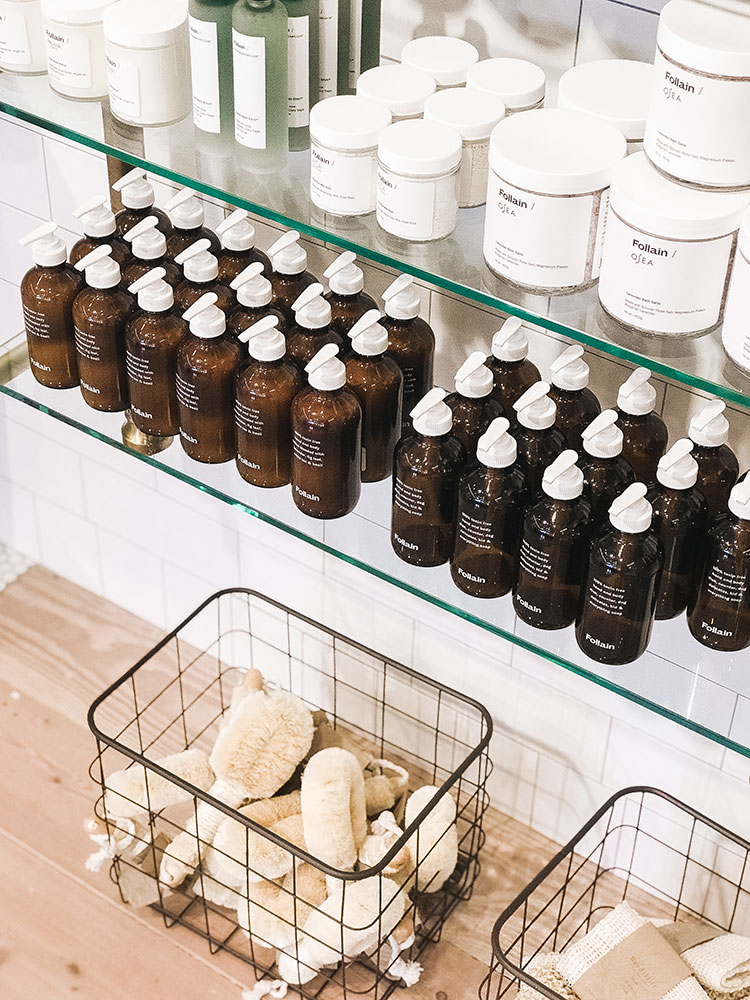 hand-picked clean beauty at Follain. natural skincare, makeup, haircare products. a new store in Seattle. #naturalskincare #naturalbeauty #cleanbeauty #nontoxic @shopfollain