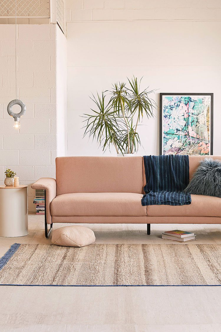 Stylish modern comfortable sofas for under $1000 for small spaces (or your first home). #smallspaces #shopping #homedecor #interiors #interiordesign #firsthome #couch #sofa #affordabledecor #under1000