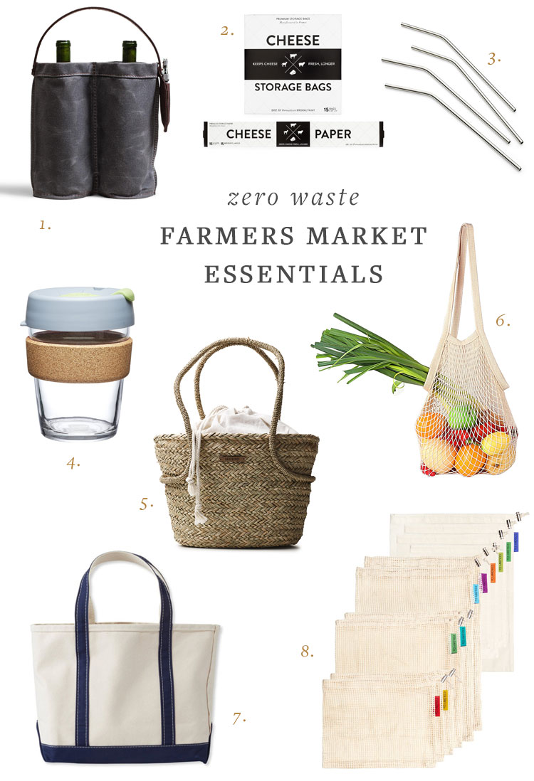 My Essentials for a Zero Waste, Plastic-Free Farmers Market Trip and Why I Shop At the Farmers Market. #cleanliving #eco #sustainability #zerowaste #plasticfree