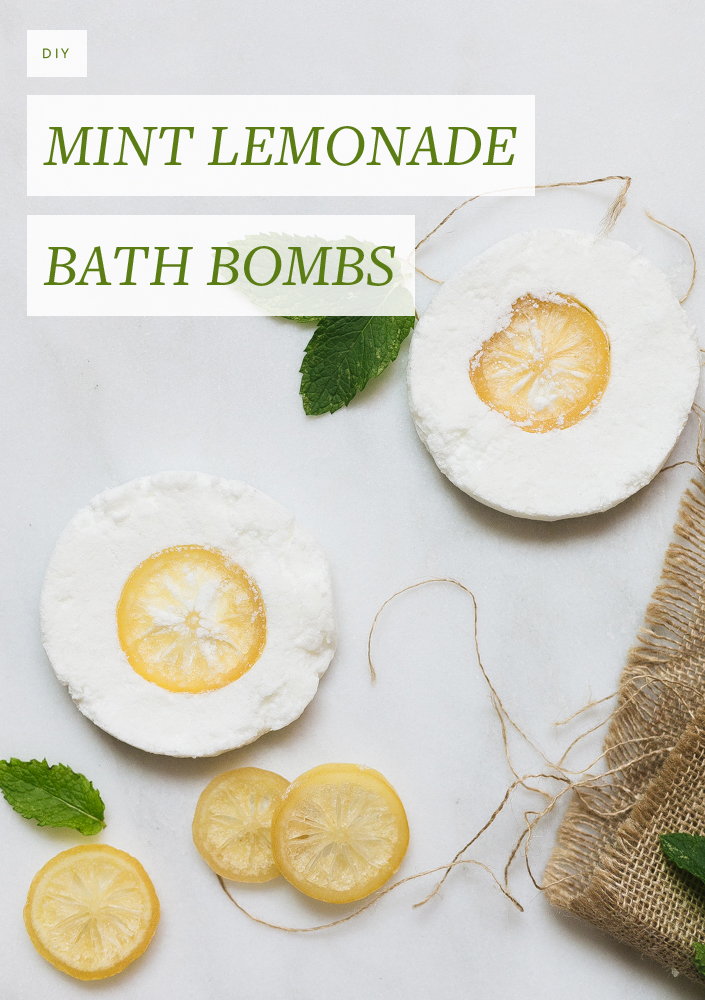 Channel the spirit and smell of summer with these mint lemonade diy bath bombs. #essentialoils #diy #summer #selfcare #homemade #bathbomb #coconutoil DIY Bath Bomb