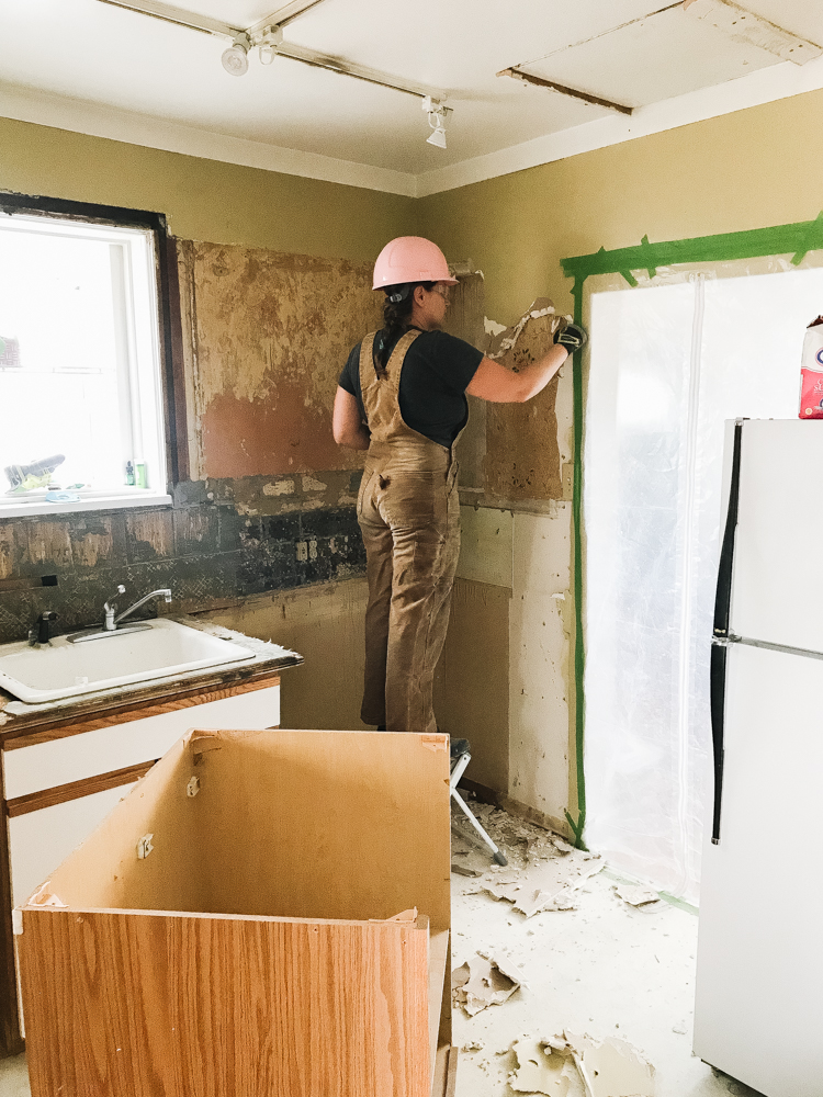 Kitchen Demo Day + A Peek Inside The Walls of our old house renovation. #oldhouse #kitchen #kitchenrenovation #demoday #renovation #oldhome #oldhomerenovation