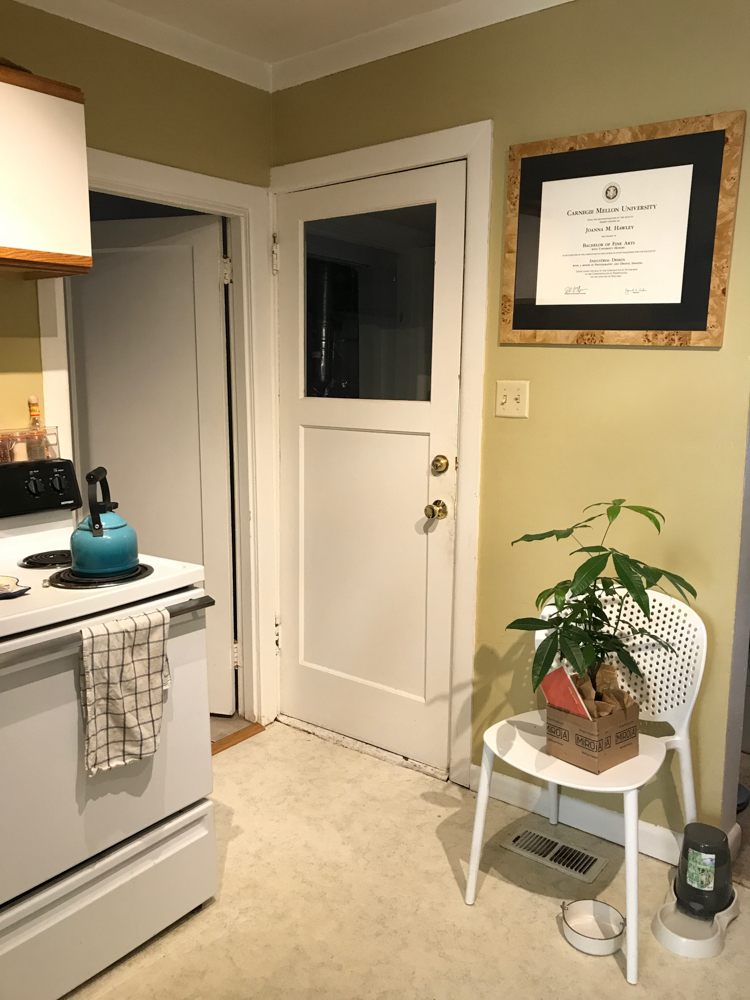 Our Official Kitchen Renovation Kick Off + Before Photos! Designed by interior designer and expert @roomfortuesday with @fireclaytile @rejuvenationinc @kitchenaidusa @masterbrandcabinetsinc @deltafaucet @polycordesign @sinkology #smallspaces #smallkitchen #kitchenrenovation #beforeafter #kitchenmakeover #kitchen #makeover #fixerupper