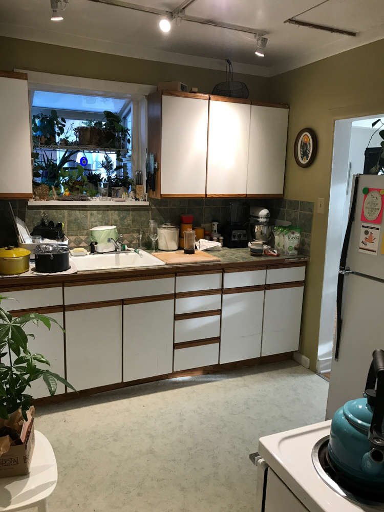 Our Official Kitchen Renovation Kick Off + Before Photos! Designed by interior designer and expert @roomfortuesday with @fireclaytile @rejuvenationinc @kitchenaidusa @masterbrandcabinetsinc @deltafaucet @polycordesign @sinkology #smallkitchen #kitchenrenovation #beforeafter #kitchenmakeover #kitchen #makeover #fixerupper