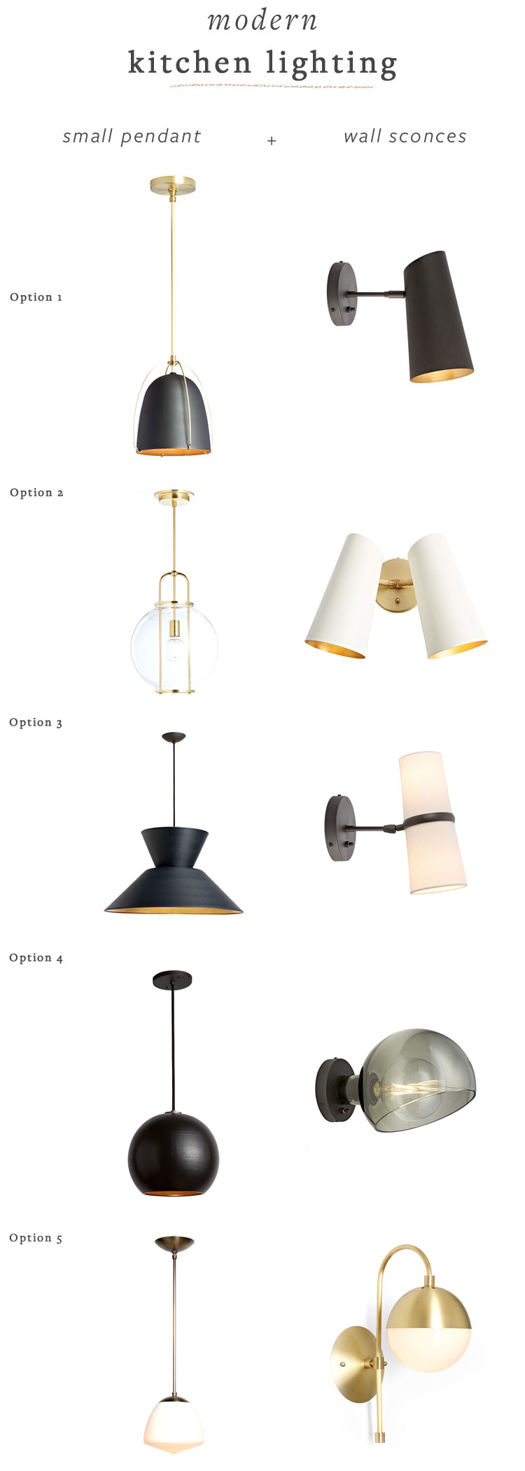 Modern Kitchen Lighting Pairings featuring wall sconces and small pendant lamps from @rejuvenationinc #sponsored #kitchen #kitchenrenovation #kitchenlighting #lighting #kitchenpendant #kitchensconce #smallspaces #fixerupper #renovation