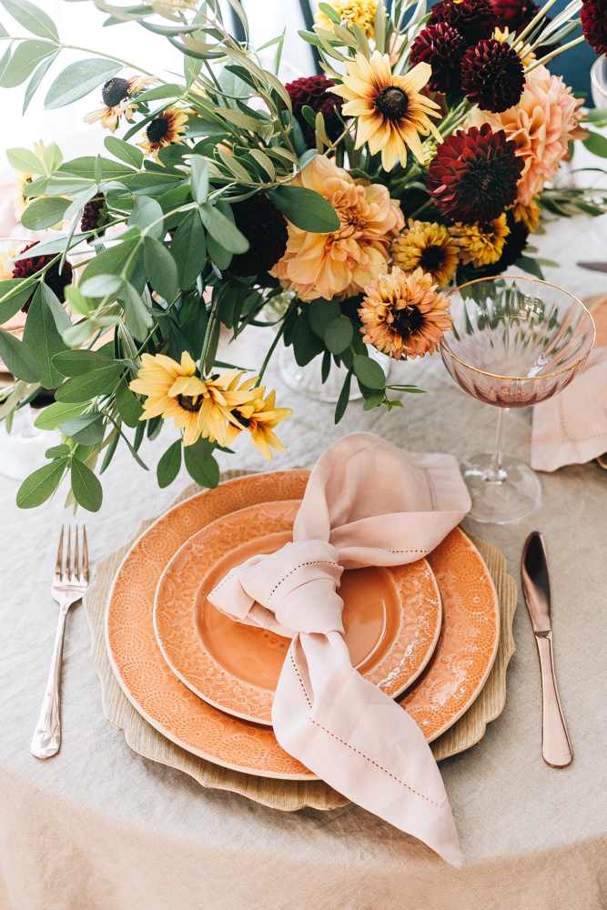 fall themed tablescape