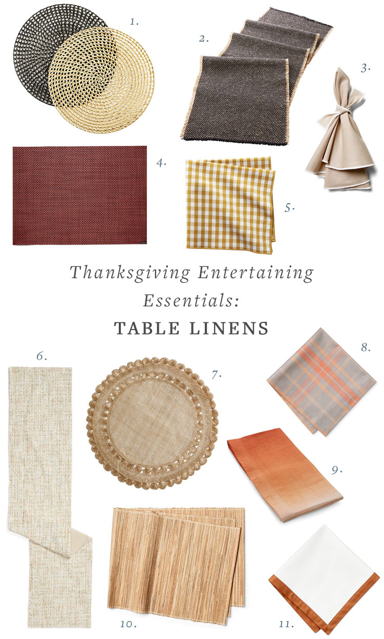 My Epic List of Thanksgiving Entertaining Essentials including serveware (platters and serving bowls), serving utensils, glassware, table linens, and tabletop decor like candlesticks! #thanksgiving #entertaining #tabletop #tablescape #hostess #hosting #thanksgivingessentials #entertainingessentials