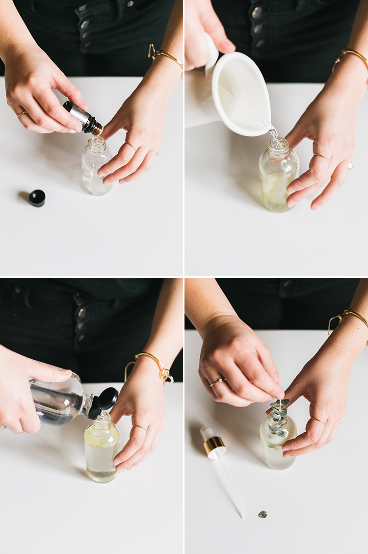 DIY essential oil room sprays are an easy, natural way to freshen up around the house. Get the full tutorial to make your essential oil room spray at Jojotastic.com #DIY #essentialoil #airfreshener