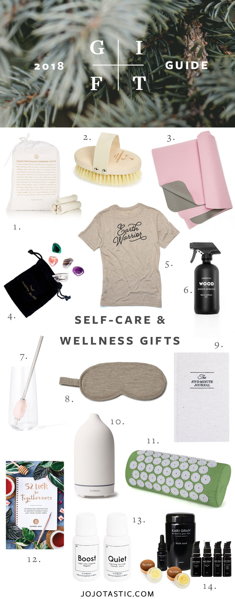 Self-Care and Wellness Gift Ideas, Gift Guide for Christmas & Holidays 2018 via jojotastic.com #giftguide #giftidea #giftgiving #gifts #presents #christmaspresents #christmasgiftideas #christmasgift #selfcare #wellness
