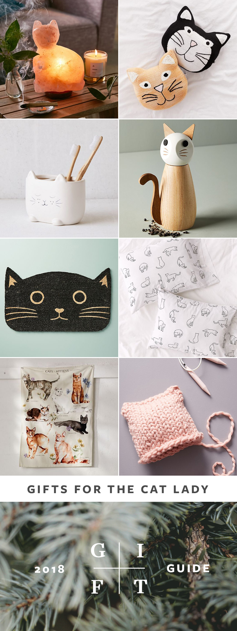 Cat Lady Gift Ideas, Gift Guide for Christmas & Holidays 2018 via jojotastic.com #giftguide #giftidea #giftgiving #gifts #presents #christmaspresents #christmasgiftideas #christmasgift #catlady #cats #cat