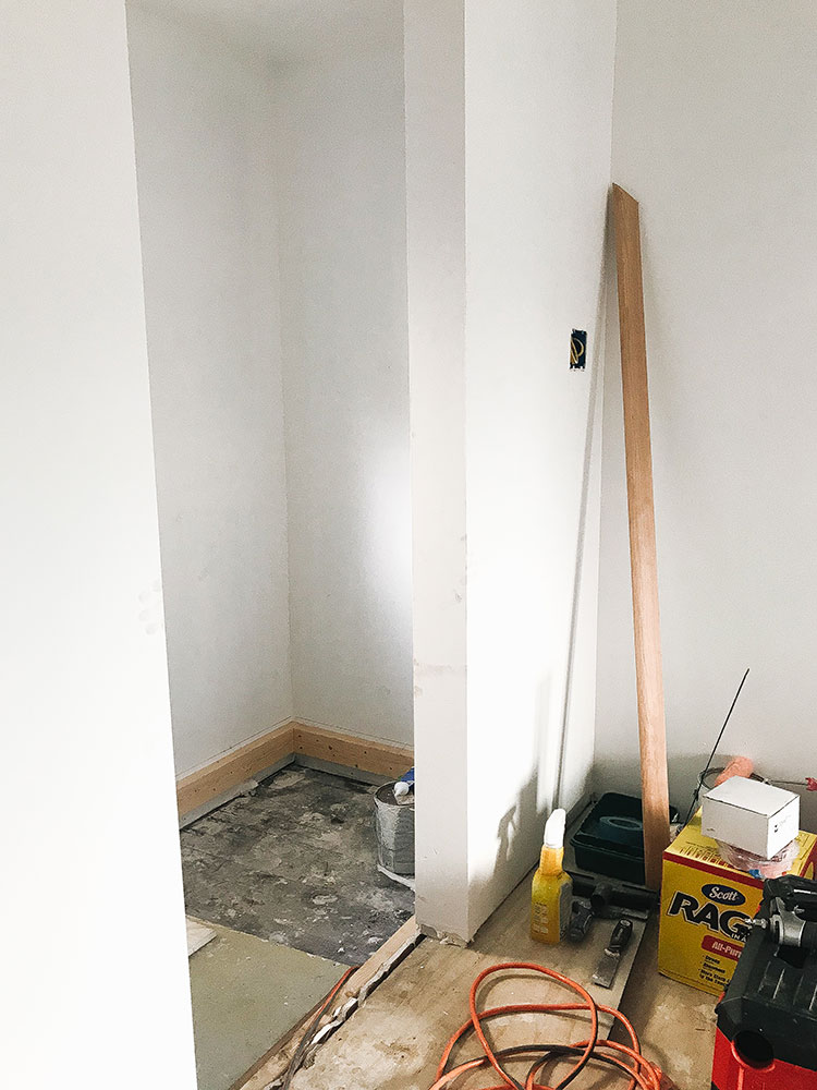 Our Kitchen Renovation: Progress Report #1. update about our small kitchen remodel including cabinets, floor tiles, countertops, faucet finish, hardware, lighting. Designed by interior designer and expert @roomfortuesday with @fireclaytile @rejuvenationinc @kitchenaidusa @masterbrandcabinetsinc @deltafaucet @polycordesign @sinkology #oldhouse #kitchen #kitchenrenovation #demoday #renovation #oldhome #oldhomerenovation #smallspaces #smallkitchen #kitchenrenovation #beforeafter #kitchenmakeover #kitchen #makeover #fixerupper