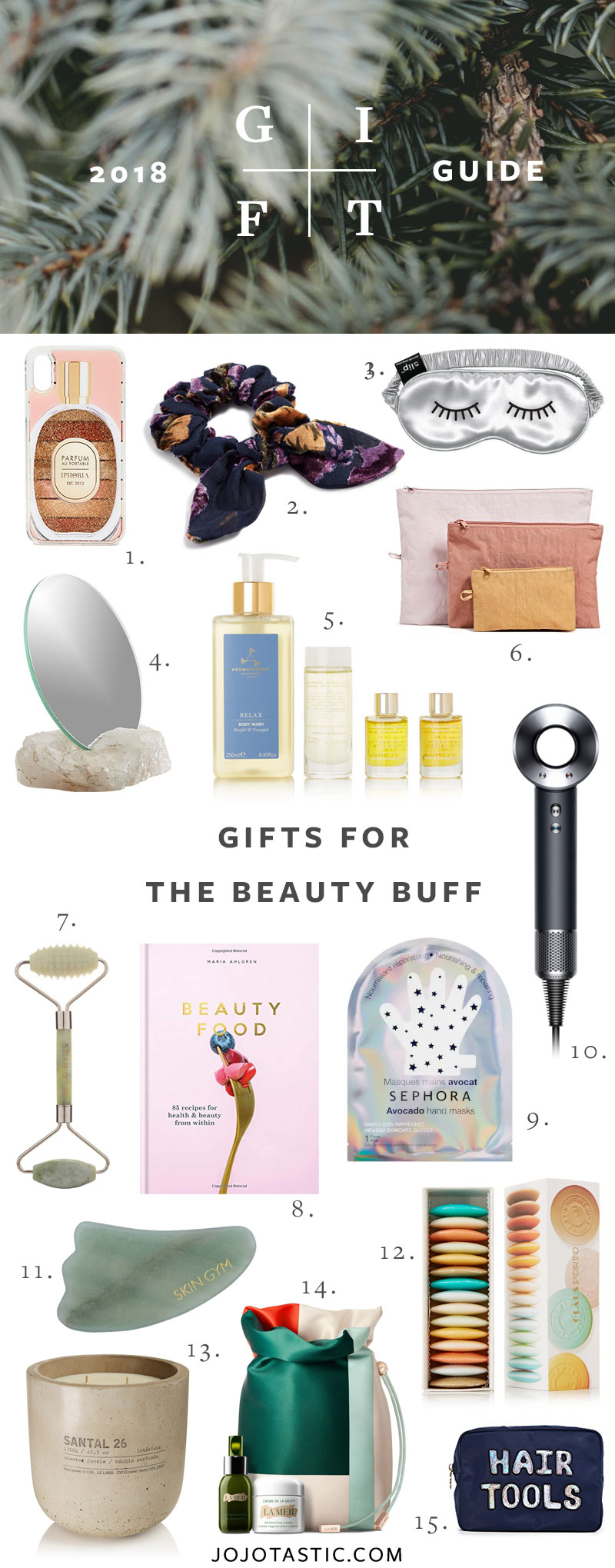 Beauty and Skincare Gift Ideas, Gift Guide for Christmas & Holidays 2018 via jojotastic.com #giftguide #giftidea #giftgiving #gifts #presents #christmaspresents #christmasgiftideas #christmasgift #skincare #wellness #beauty #skincaregifts #beautygifts #beautybuff