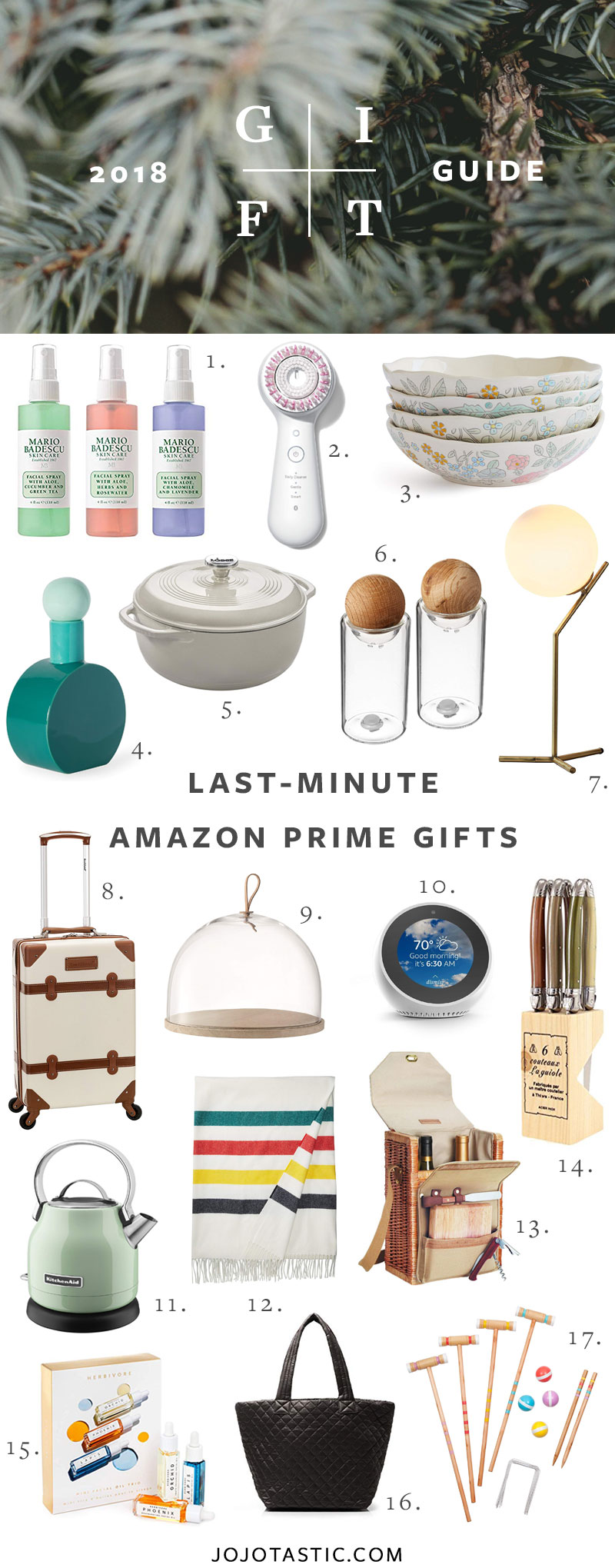Last Minute Amazon Prime Gift Guide for Christmas & Holidays 2018 via jojotastic.com #giftguide #giftidea #giftgiving #gifts #presents #christmaspresents #christmasgiftideas #christmasgift #amazonprime #lastminutegifts #lastminutechristmasgifts #lastminutegiftideas #specialgifts