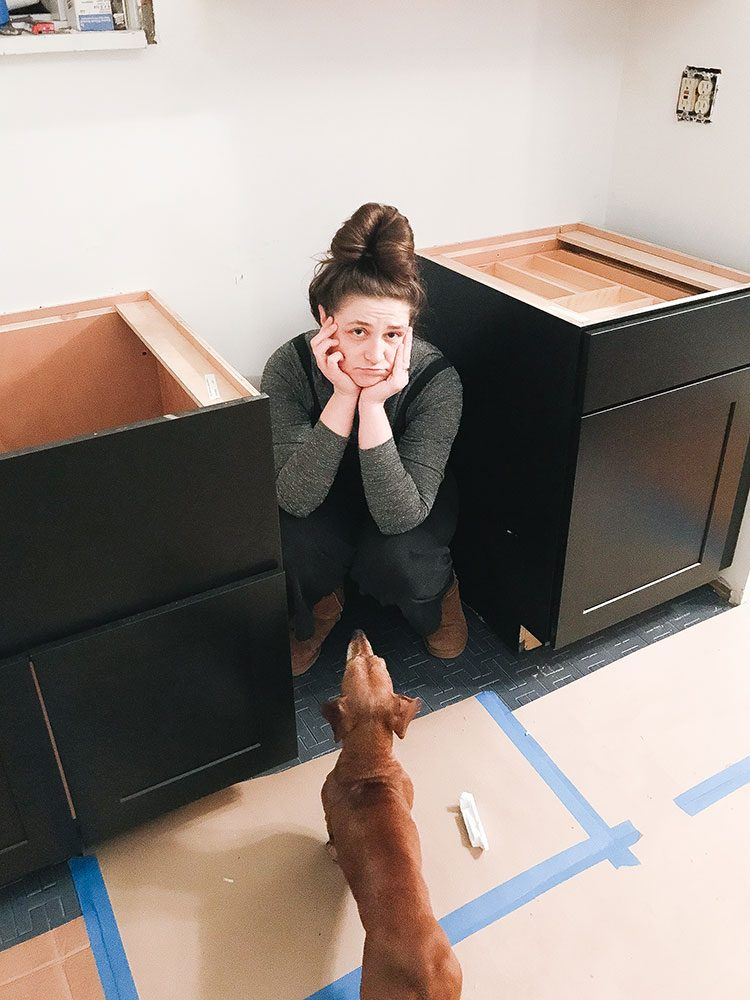 Our Kitchen Renovation: Expectations vs. Reality. update about our small kitchen remodel including cabinets, floor tiles, countertops, faucet finish, hardware, lighting. Designed by interior designer and expert @roomfortuesday with @fireclaytile @rejuvenationinc @kitchenaidusa @masterbrandcabinetsinc @deltafaucet @polycordesign @sinkology #sponsored #oldhouse #kitchen #kitchenrenovation #demoday #renovation #oldhome #oldhomerenovation #smallspaces #smallkitchen #kitchenrenovation #beforeafter #kitchenmakeover #kitchen #makeover #fixerupper
