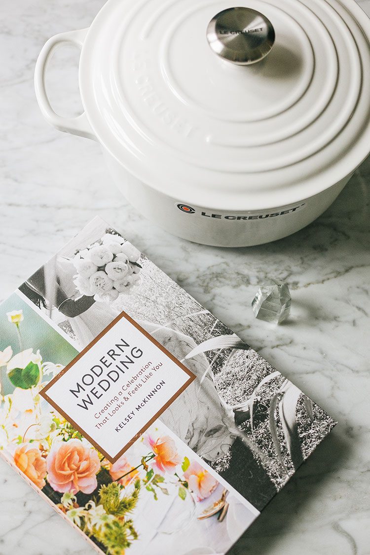 Enter to Win a Copy of Modern Wedding + a Le Creuset Dutch Oven! #ad #modernwedding #giveaway #lecreuset #castiron #weddinginspiration #weddingplanning #realwedding #bookreview #entertowin