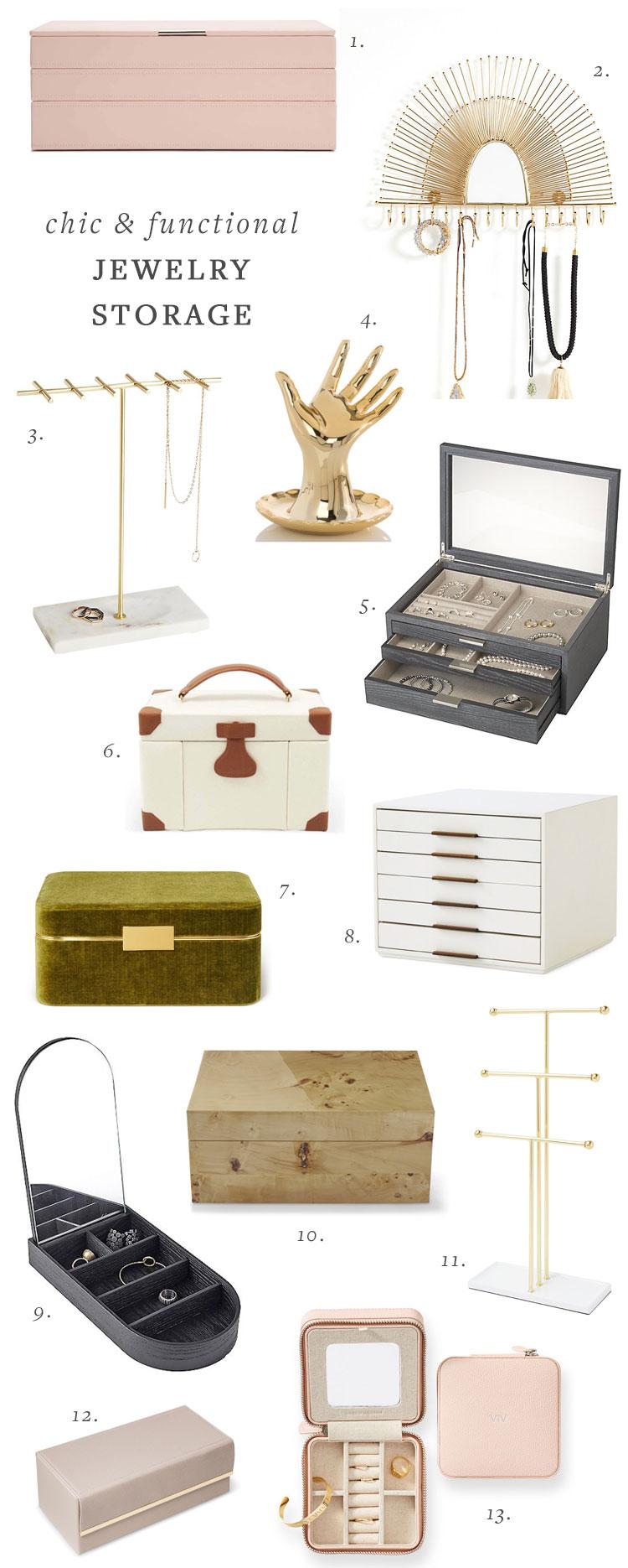 20+ Functional and Stylish Jewelry Storage Ideas! #jewelrystorage #smallspaces #smallstorage #jewelrybox #jewelrystand #organization #storage #storageideas