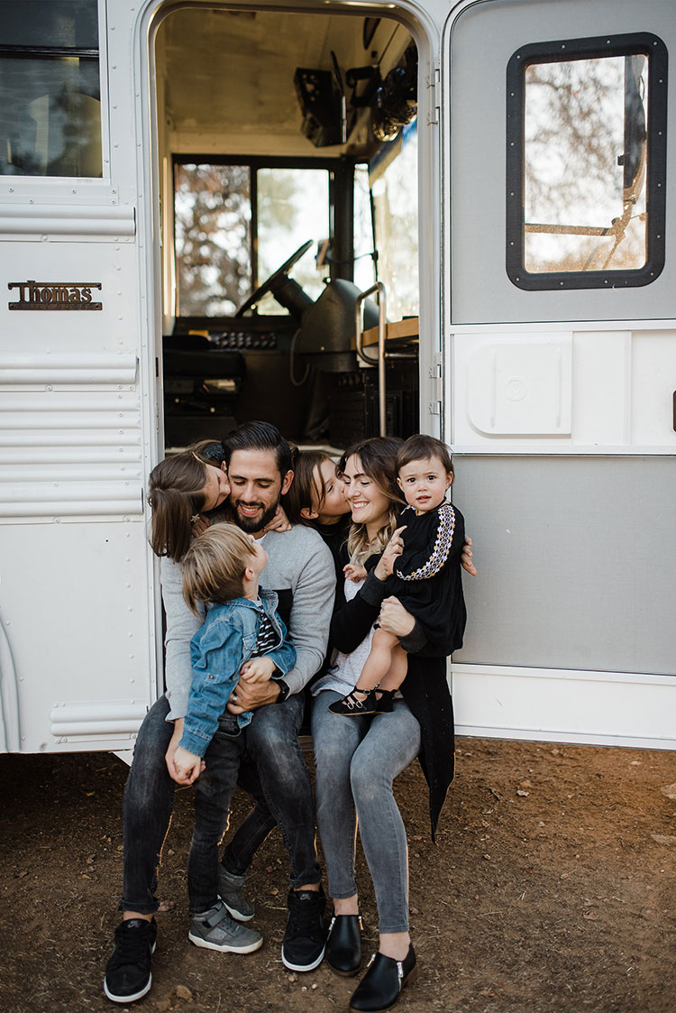 Small Space Squad Home Tour: The Mayes Team @themayesteam #smallspaces #tinyhouse #livesmall #smallspacesquad #hometour #housetour #skoolie #schoolbusconversion #busconversion #schoolbus