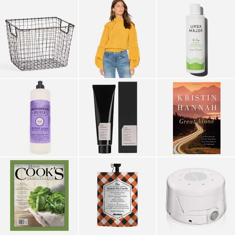 9 things of note: Joanna's Favorite Things from March 2019. Including Ursa Major daily shampoo, Mrs. Meyers Lilac dish soap, my new favorite top, two must read books and magazines, a great hair mask and cleaning cream, and the best sound machine EVER! #thingsofnote #shopping #shoppingguide #musthaves