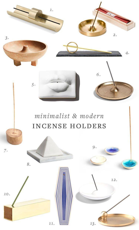 Stunning Minimalist & Modern Incense Holders You'll Lust For! #incense #incenseburner #incenseholder #homefragrance #ceramics #interiordesign