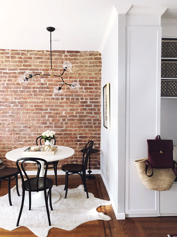 Small Space Squad Home Tour: Inside the Beautifully Renovated Home of The Grand Apartment #smallspaces #tinyhouse #livesmall #smallspacesquad #hometour #housetour #vintagehome #charminghome #renovation #lowereastside #NYCapartment #NYCrenovation #exposedbrick