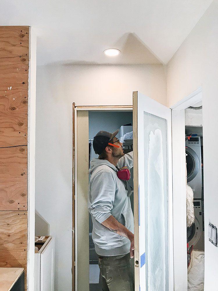 Our Kitchen Renovation: The Home Stretch! Small kitchen remodel including cabinets, floor tiles, countertops, faucet finish, hardware, lighting. Designed by interior designer @roomfortuesday w/ @fireclaytile @rejuvenationinc @kitchenaidusa @masterbrandcabinetsinc @deltafaucet @polycordesign @sinkology #ad #oldhouse #kitchen #kitchenrenovation #demoday #renovation #oldhome #oldhomerenovation #smallspaces #smallkitchen #kitchenrenovation #beforeafter #kitchenmakeover #kitchen #makeover #fixerupper