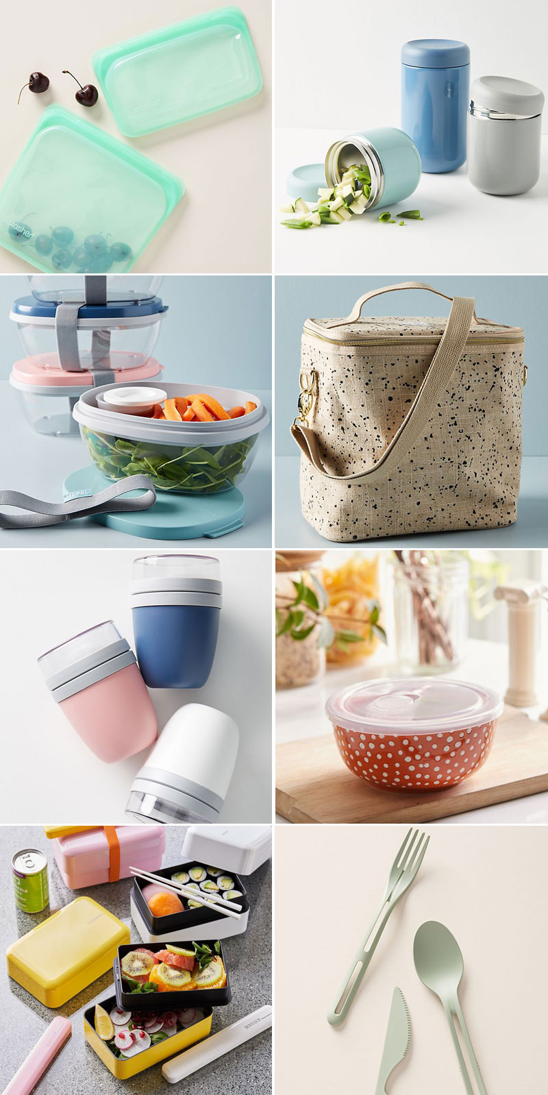 Bring Your Lunch To Work With These Chic Reusable Containers #zerowaste #zerowastliving #livegreen #eco #wellness #noplastic #reducewaste #lunchbag