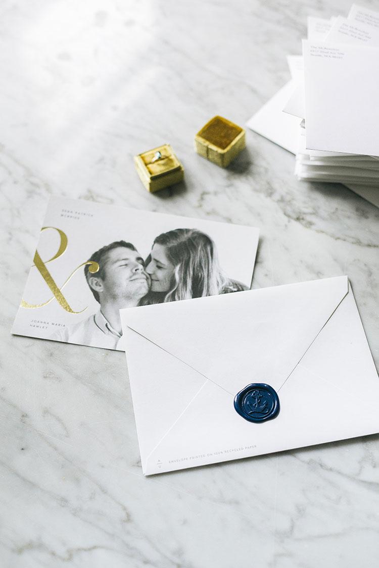 Our Save the Dates from Artifact Uprising + How We Personalized Them!  @artifactuprsng  #wedding #weddingplanning #nontraditionalwedding #modernwedding #weddingstationery #savethedates #letterpress