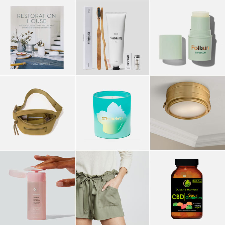 9 things of note: Joanna's Favorite Things from May 2019. including Dagne Dover, Otherland, Glossier solution, new shorts, CBD gummies, Restoration House and MORE! #thingsofnote #shopping #shoppingguide #musthaves