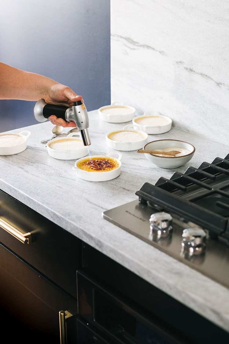 How to Make Blackberry Thyme Creme Brulee + learn all about the new Smart Oven+ with Powered Attachments from @KkitchenAidUSA! #ad #marksofmaking #kitchenaid #smarthome #cremebrulee #blackberries #dessertrecipe