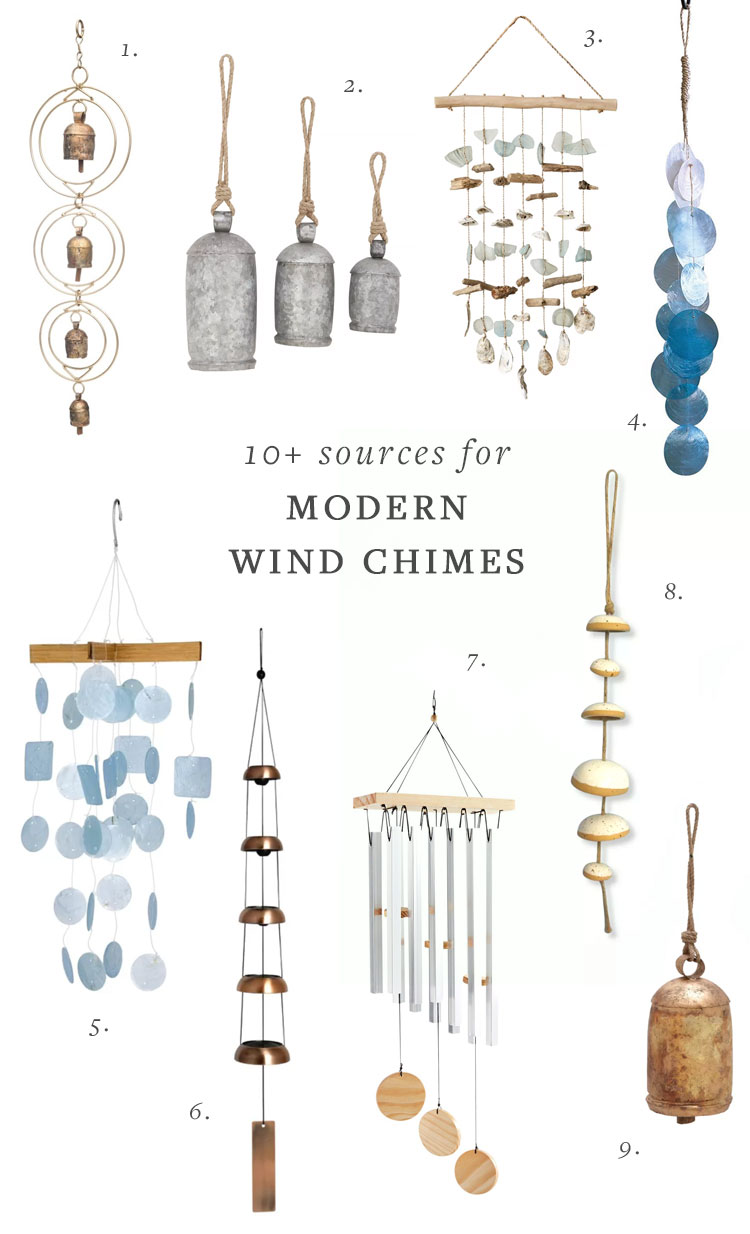 My Search for Modern Wind Chimes & All the Best Sources! #windchimes #windchime #outdoordecor #patiodecor #patio #deck #outdoorspace