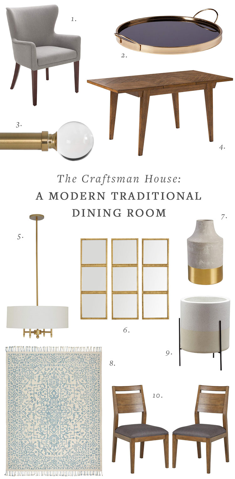 The Craftsman House: A Modern Traditional Living & Dining Room Makeover with Amazon Home! See all the Before photos of this interior design project sponsored by @AmazonHome on jojotastic.com #ad #FoundItOnAmazon, #getmorewithprime #craftsman #livingroom #diningroom #beforephotos #interiordecor #interiordesign #moderntraditional
