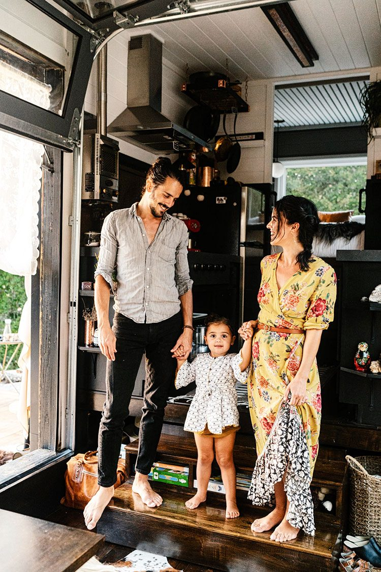 Small Space Squad Home Tour: Inside The Bold and Eclectic Home of Bela Fishbeyn known as Tiny Migrations and tinyxlife #smallspaces #tinyhouse #livesmall #smallspacesquad #hometour #housetour #minimalist #moderndecor #modernrustic #modernfarmhouse