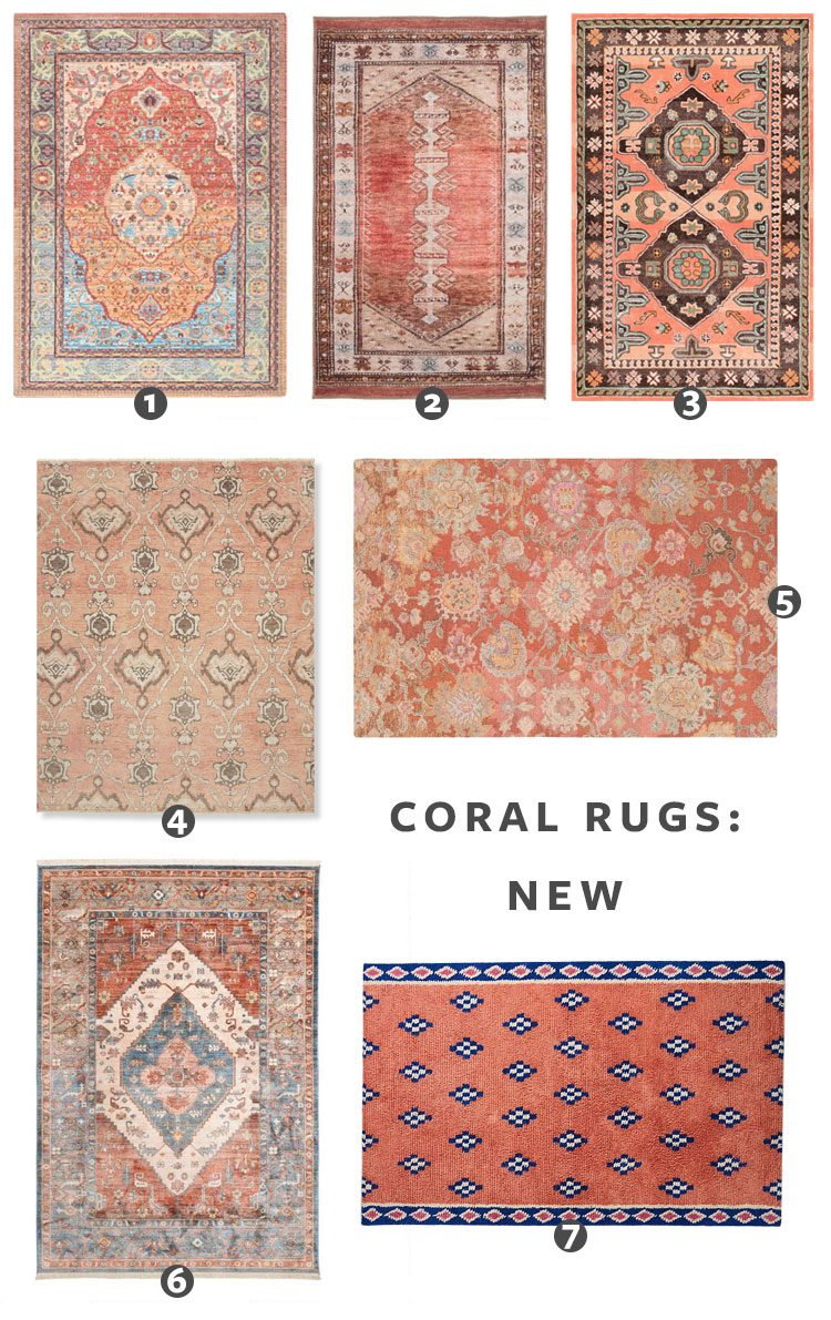 Looking for a Turkish Rug Just Like Ours? Check Out These Sources for the best vintage rugs and new vintage-inspired rugs in a coral color palette! #coral #turkishrug #vintagerug #vintageinspiredrug #bedroomrug #anatolian #oushak #oneofakindrug