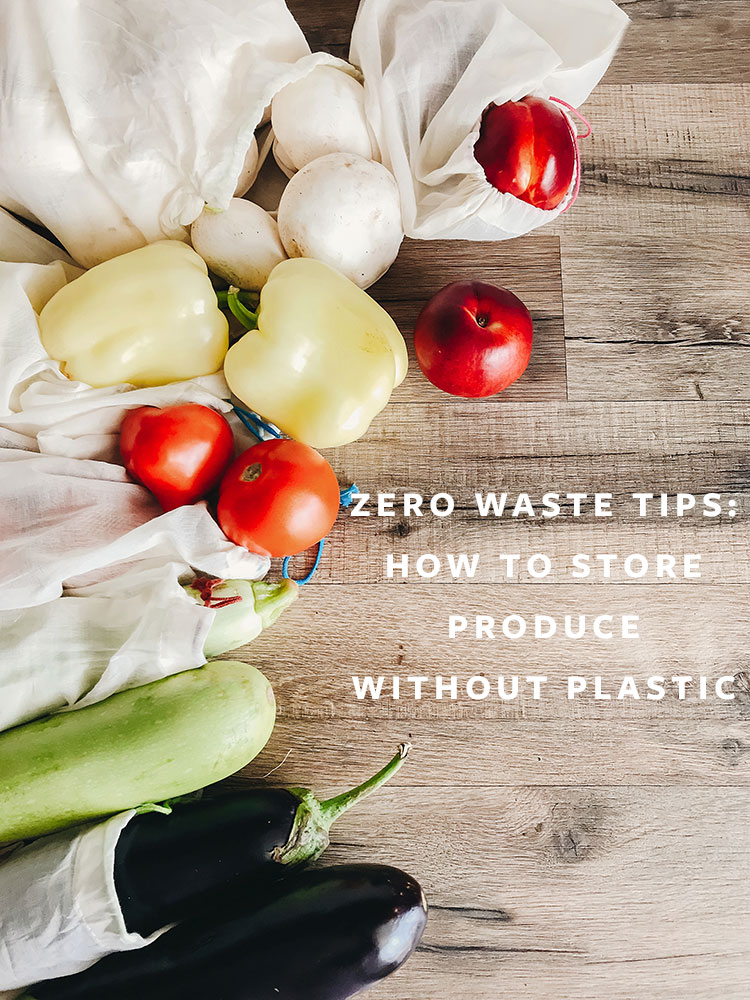 These 4 Easy Changes Will Help You Store Produce without Plastic! #wellness #zerowaste #ecoliving #greenliving #plasticfree #reducewaste #zerowastetips #masonjar #reusablebags