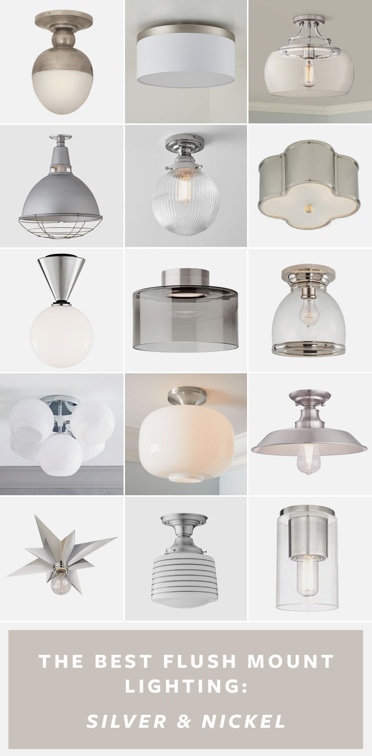My Ultimate List of the BEST Flush Mount Lighting — in 3 finishes! #kitchen #kitchenrenovation #kitchenlighting #lighting #smallspaces #fixerupper #renovation #flushmount #flushmountlighting #brasslighting #blacklighting #nickellighting #ceilinglight