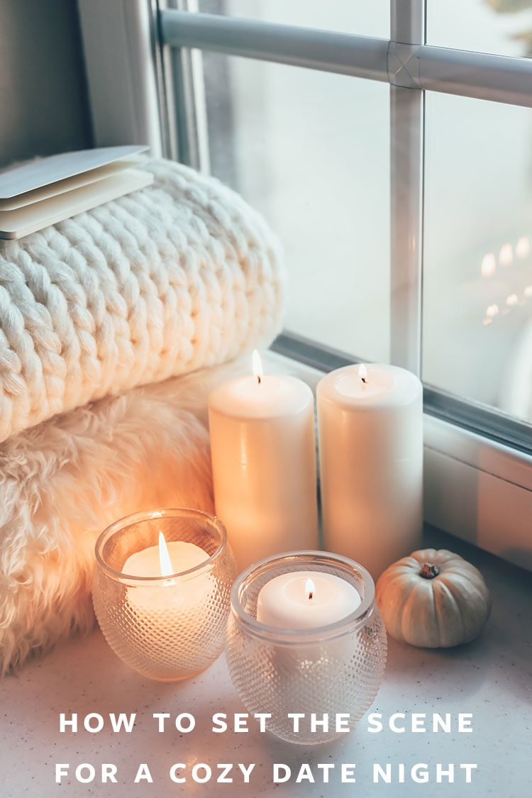 How to Set the Scene for the Coziest Date Night at Home! Plus, my one rule for dates and how to set the mood and affordable date ideas. #fall #datenight #cozy #hygge #affordabledate #dateidea #ambiance #autumn #nightin