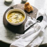 This Rustic Kale Soup Recipe Is the BEST Way to Start Off Soup Season! Yukon gold potato, sweet Italian sausage, white bean, and kale soup recipe for fall and winter. Hearty soup for an easy weeknight dinner. #soup #kalesoup #kale #sausage #yukongoldpotatoes #heartysoup #souprecipe #fallrecipe