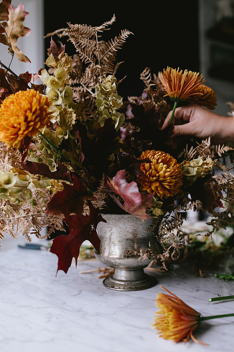 How To Make A Modern Thanksgiving Centerpiece With Dried Flowers