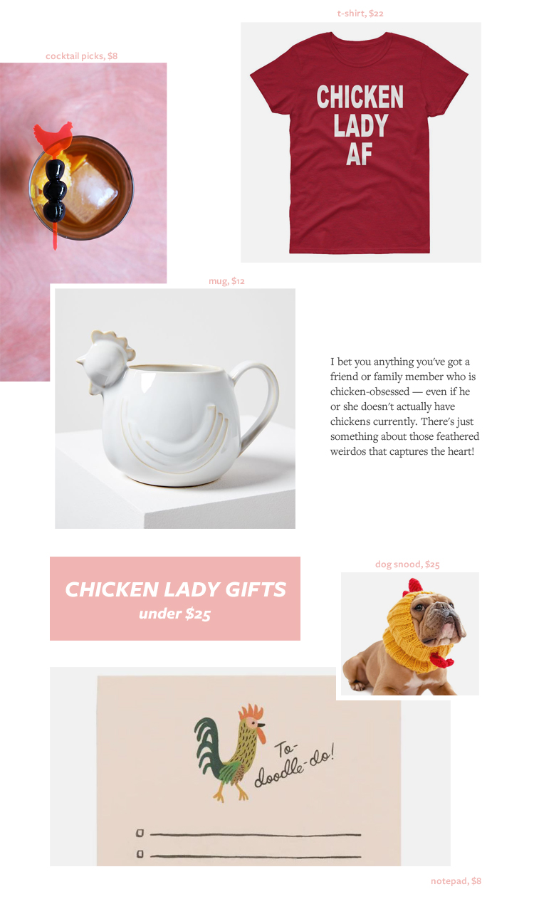 The Best Gift Ideas for the Crazy Chicken Lady! Gift Guide for Christmas & Holidays 2019 via jojotastic.com #giftguide #giftidea #giftgiving #gifts #presents #christmaspresents #christmasgiftideas #christmasgift #chickens #backyardchickens #chickenlady #fancychickens #eggs