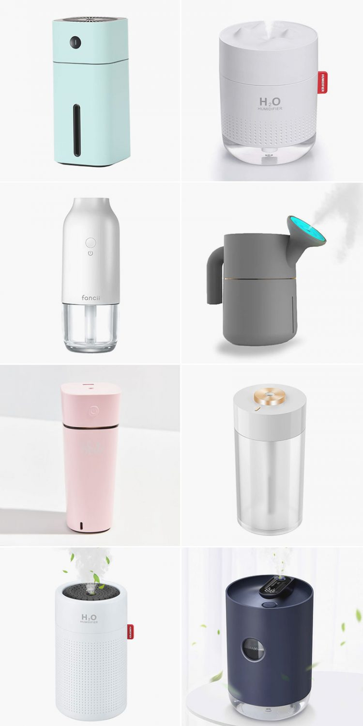 17 Stylish Humidifiers to Ease Your Winter Woes! A round up of modern humidifiers including cool mist and warm mist. #roundup #humidifier #interiordesign #homedecor