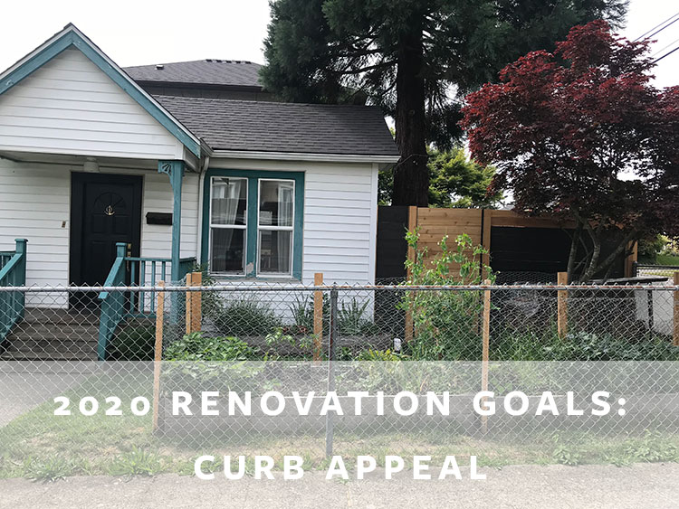 Our Home Renovation Goals + To Do List for 2020! tips for planning renovations, remodels, landscaping. Adding curb appeal with an exterior makeover and finally finishing our backyard! #fixerupper #renovations #punchlist #todolist #homerenovation #homerenovationgoals