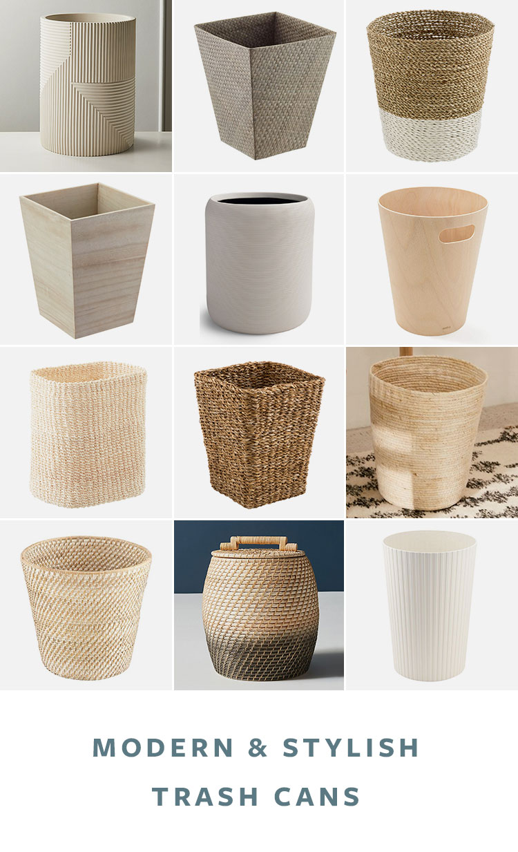 36 Stylish Modern Trash Cans For Your Kitchen Or Bathroom Jojotastic