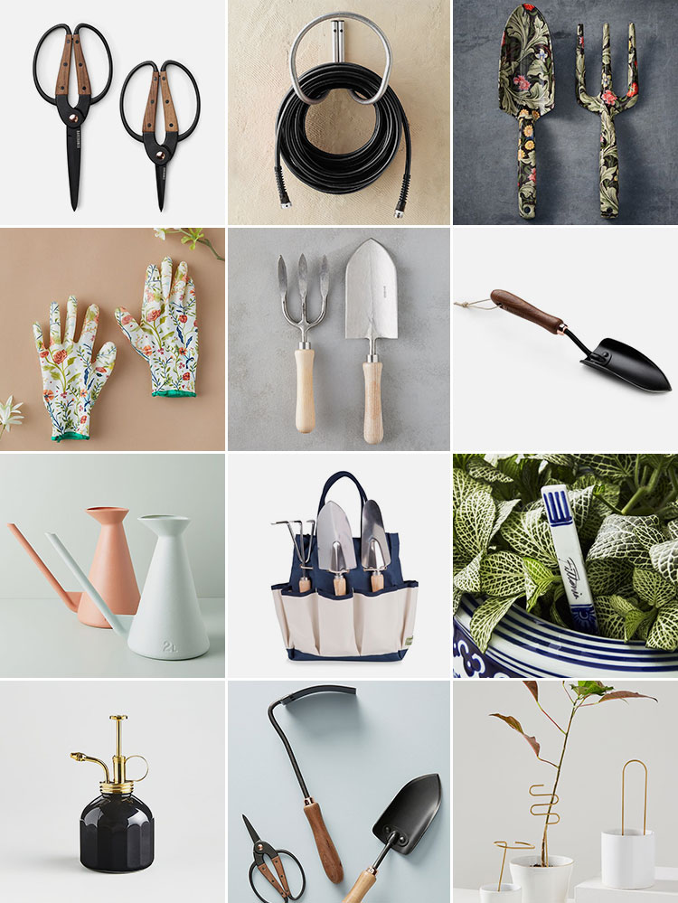 Chic & Stylish Gardening Tools Because Spring Cannot Get Here Soon Enough! Including shovels, trowels, rakes, Japanese gardening tools, watering cans, and more! #gardening #PNWgarden #seattlegarden #urbanfarming #smallgarden #frontyardgarden #smallspacegarden #organicgardening #gardeningtools