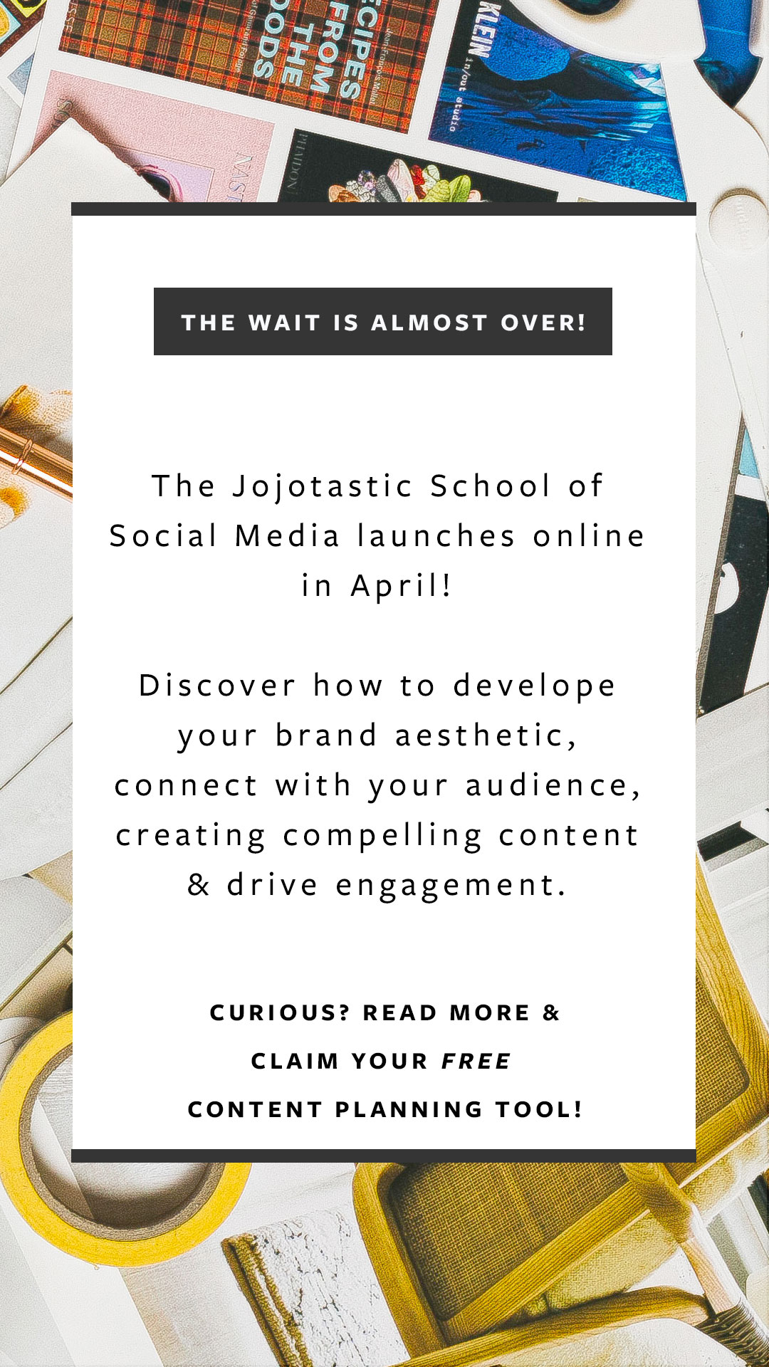 The Jojotastic School of Social Media Q&A, answering your questions about my new social media class. Ready to get serious and take your small business to the next level? This is the social media workshop for you! #pinterestclass #instagramclass #socialmediaclass #workshop #socialmediaworkshop #socialmediaforsmallbusinesses #smallbusiness