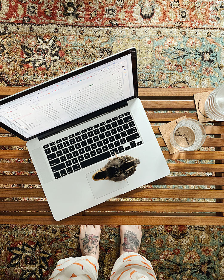 These days, I have to be much more proactive about how I stay inspired while at home, so I wanted to share with you how I'm doing just that. 8 tips to help you stay creative and motivated while sheltering in place and working from home. #creativity #workingfromhome #workfromhome