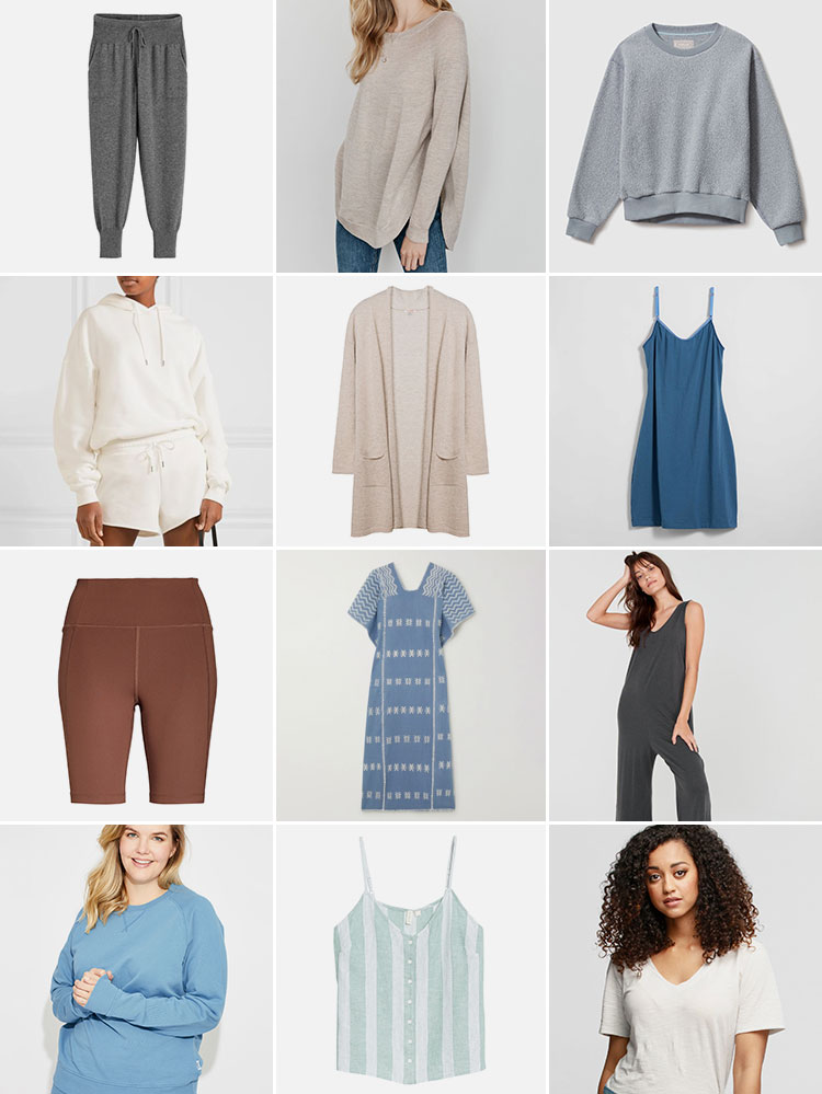 Work From Home In Style with These Sustainable Loungewear Picks! eco-friendly, ethically made, organic athleisure, sleepwear, and pajamas. Sustainable style, eco friendly fashion. Tips for Shopping for Ethical, Sustainable & Eco-Friendly loungewear. Looking for Stylish Ethical Fashion Brands? List includes reviews of Pact, Lunya, MATE the label, ABLE, Amour Vert & more! #sustainability #sustainablestyle #ethicalfashion #ethicalbrands #ecoliving #sustainablelifestyle #ecofashion #ecostyle #ethicalclothing