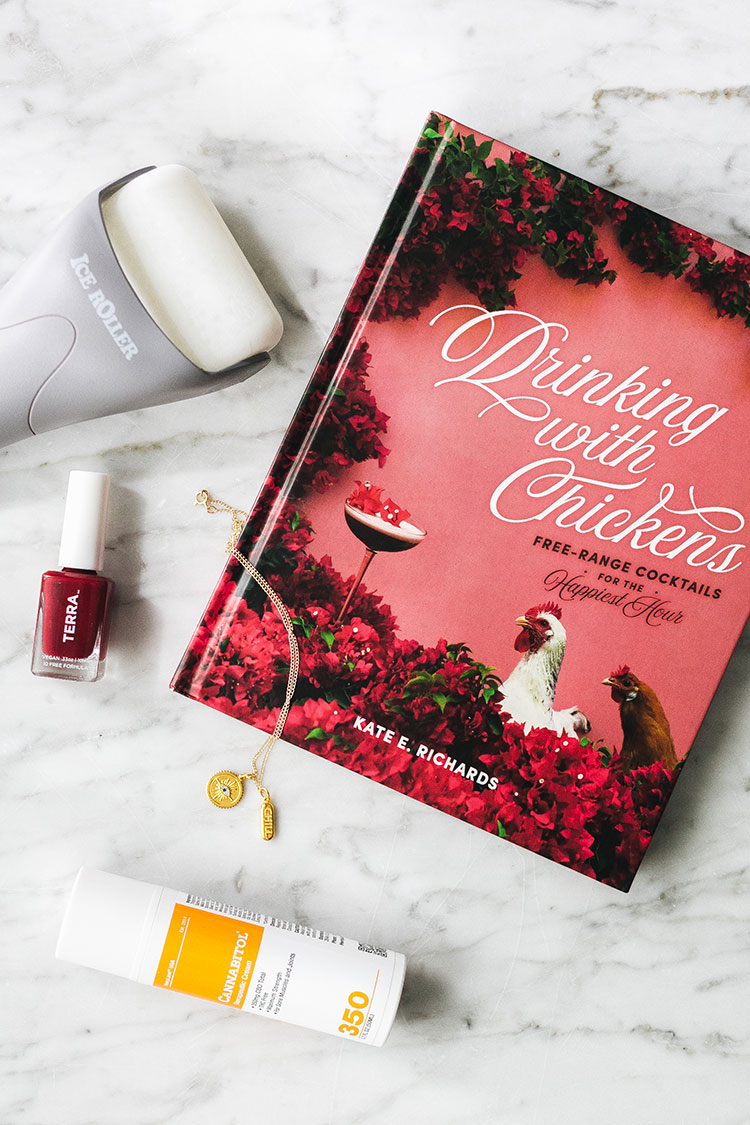 Joanna's Things of Note from April 2020 (including Bloomist, My Ice Roller, the Drinking With Chickens cocktail recipe book, natural nail polish from Terra, CBD cream for back pain & more) #thingsofnote #shopping #shoppingguide #musthaves #favoriteproducts