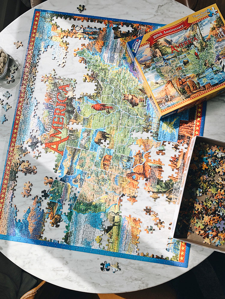 Personal Essay about taking a week of from work for self-care during quarantine and coronavirus. Finding peace and meditation in doing jigsaw puzzles. #quarantine #personalessay #stayhome #selfcare #wellness